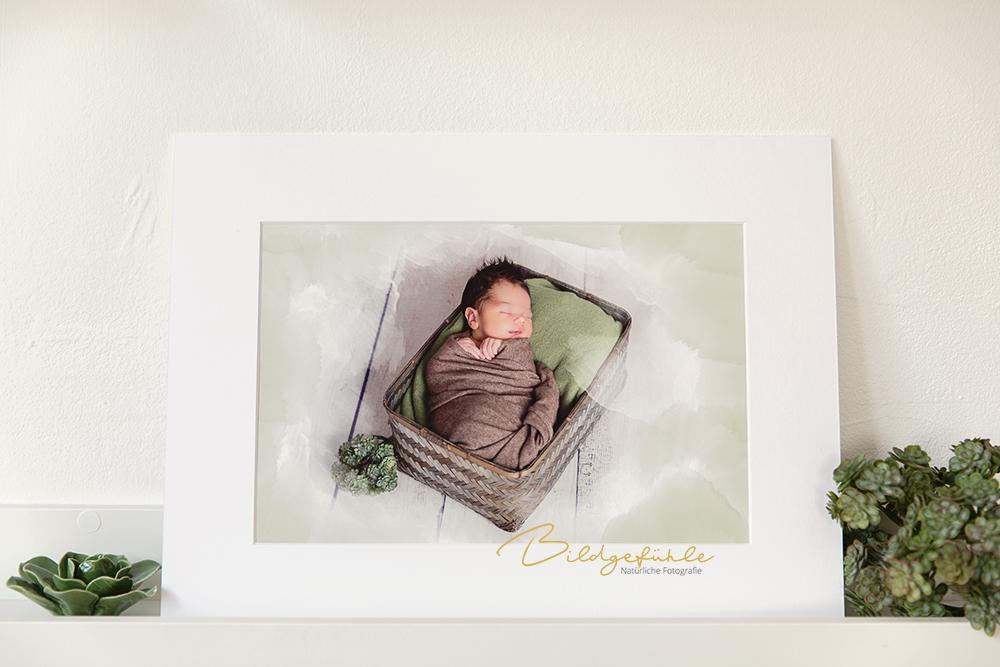 Baby Watercolor Bild
